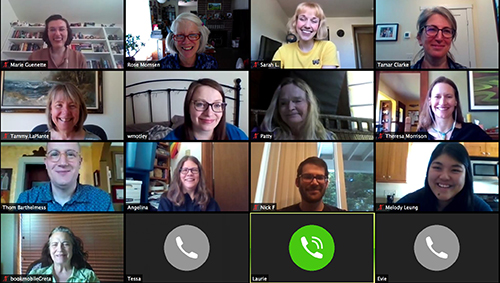 Youth Services staff on Zoom